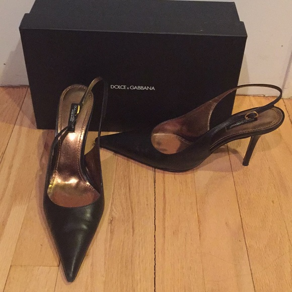 various styles exclusive deals promo code Dolce & Gabbana Shoes | Dg Pointed Toe Slingback Pumps | Poshmark
